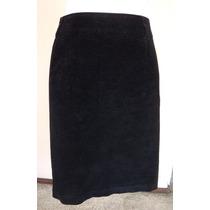 Falda Negra De Pana Linea A Talla-16 P Fch429