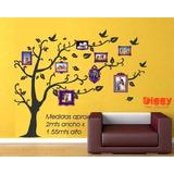 Árbol Genealógico Vinil Decorativo Con Marcos Para Fotos