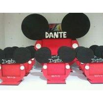 5 Souvenirs Y Un Portaretrato Central Mickey O Minnie-