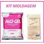 Alginato Algi-gel 410g + Gesso Pedra 1kg