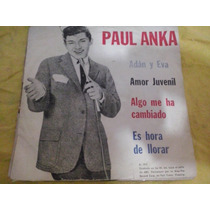 Paul Anka Adan Y Eva Disco Vinilo Simple 7