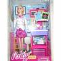 Muñeca Anlily Con Mueble De Doctora Barbie Generica