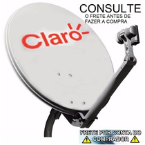 Kit Antena 60cm Banda Ku + Lnb Duplo+ 20mts De Cabo+fixação