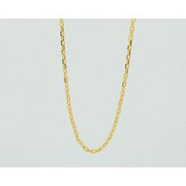 Corrente Cordão Cartier Redonda Fina 60 Cm Ouro 18k Jsp0537