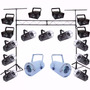Set Luces Disco Dj Profesionales Efecto Led Estructura Stand