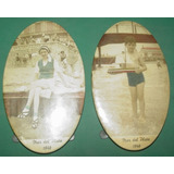 Mar Del Plata No Postal Dos Porta Retratos 1940 Niño Juguete