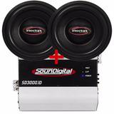 Kit 2 Sub Terremoto 12 1200wrms + Modulo Soundigital 3000w