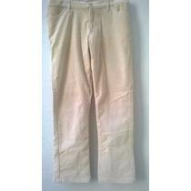 Pantalon Gamuzado Recto De Mujer Tiro Medio Marca Gap T 42
