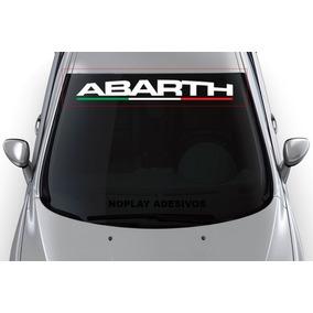 Adesivo Abarth De Parabrisa Faixa Fiat Punto Uno Bravo Sport
