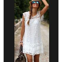 Verano Playa Vestido Mujer Sin Mangas Encaje Vestidos Ropa