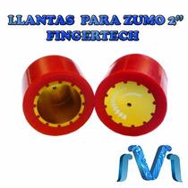 Llanta Para Zumo 2 Pulgadas Fingertech Rojo 2 Piezas