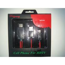 Cable Mhl Para Conectar Tu Celular A Tus Pantallas Via Hdmi