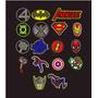 Bordados Parches Urbanos Avenger Super Ironman 6 Centimetro