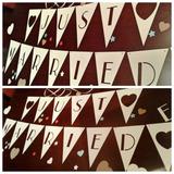 Banderines Calados, Guirnaldas Just Married / Recien Casados