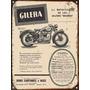 Carteles Chapa Publicidades Antiguas Moto Gilera X294