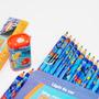Kit Escolar Procurando Nemo, Lápis De Cor, Apontador E Régua