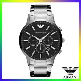 701174d45d3 Relógio Emporio Armani Ar2460 Prata E Preto Frete Grátis.