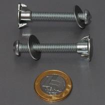 Parafusos 1/4 De Metal C/ Porcas Auto-cravantes P/ Asas