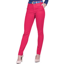 Calça Skynni Pink Cintura Alta Social Principessa Bianca