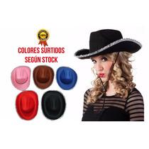 Combo X20 Sombrero Vaquero Con Ribete Cowboy Cotillón Carioc