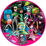 Monster High Papel Arroz Redondo 20 Cm Bolo