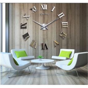 Relógio De Parede Diy 3d Adesivo - Decoração 90 Cm