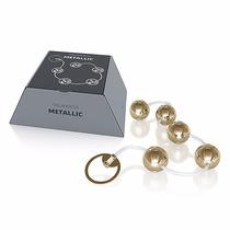 Bolinhas Tailandesas Pompoarismo Aço Inox Metal Dourada