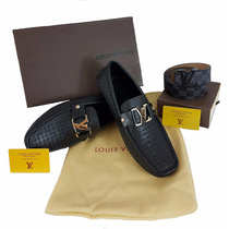 Mocasines Louis Vuitton + Cinturon Con Envio Gratis