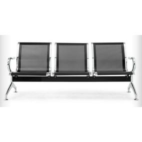 Cadeira Longarina Aeroporto Espera 3l Clínica Aço Resistente