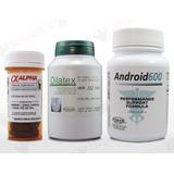 Kit Anabolizante Android600+ Dilatex+ Alpha Axcel Em 30 Dias