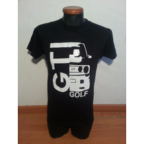Playera Auto Golf, Talla Grande Color Negro