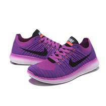 Zapatillas Nike Free Rn Flyknit 6colores Dama Lo Mas Buscado