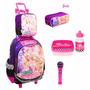 Kit Mochila Barbie Rock Royals Lanc + Estojo + Microfone