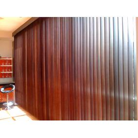 persiana vertical de pvc madera 750 m2 - Persianas De Madera
