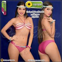 Traje Baño Damas Ultima Moda 2017 Bikini Rellenos Strapless