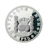 Medalla 1/10 Onza Plata Pura, Modelo Tipo Moneda Columnaria