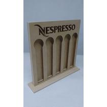 Porta Cápsulas Nespresso Em Mdf Crú Com Base