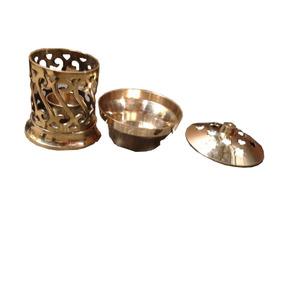 Rechoud Bronze Vela Aromatizador Difusor Dourado Frete