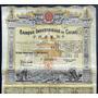 Bono Accion Banco Industrial De China 1913 !!!