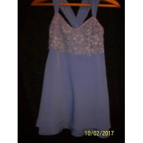 Vestido De Fiesta Talle L Color Lavanda