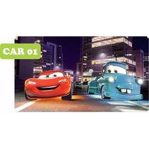 Adesivo Infantil Carros Cars - Paredes Guarda Roupas Com 4m²