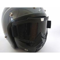 Mascara Para Casco 3/4 Tipo Shark Motocross