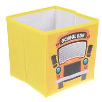 Caja De Almacenamiento De Autobús Escolar Amarillo Plegable