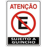 Placa Atenção Proibido Estacionar Garagem Sujeito A Guincho