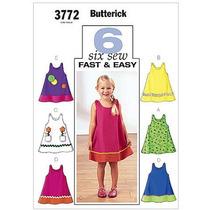 Patrón Butterick Vestido De Los Niños Del Niño Y (4 5 6)
