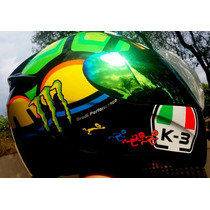 Capacete Monster K3 Tartaruga Drudi Performance