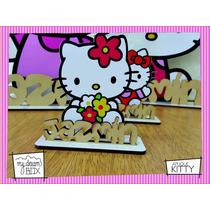 Souvenir Cumple Aplique Personalizad Madera 60cm Hello Kitty