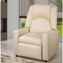 Poltrona Do Papai Reclinável American Comfort Halley Bege
