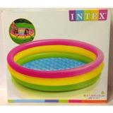 Piscina Intex Inflável 132 Litros Infantil 3 Anéis Coloridos