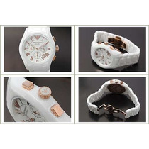 Relogio Emporio Armani Ar1416 Ceramica Branco/rose P.entrega